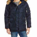 Аляска Теплая зимняя куртка Alpha Industries N-3B Slim-Fit USA Оригинал