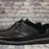 Мужские кожаные туфли 541 чер