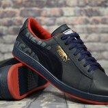 Мужские кожаные кроссовки P2 син