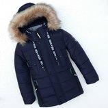Зимняя куртка для мальчика ферари , синий 116-146 см