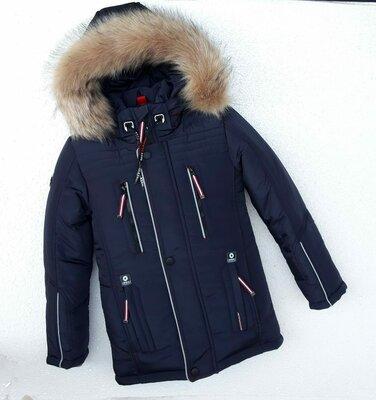 Зимняя куртка для мальчика бест , синий 116-146 см