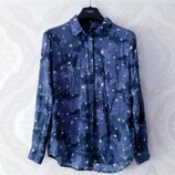 Размер 10-12 Стильная фирменная натуральная рубашка