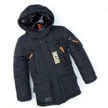 Зимняя куртка для мальчика спорт , табак 116-146 см