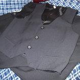 Чёрный Жилет Брюки элегантный комплект рост 134-152