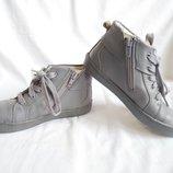 Ботинки детские демисезонные кожаные серые Clarks Размер 30 UK12½G, EU31