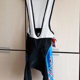 Велошорты велотрусы с памперсом и лямками на подтяжках Хl Италия