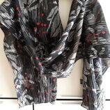 Красивый легкий котоновый шарф палантин