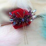 Морфо метелик - шпилька в аметистових відтінках, безкоштовна доставка