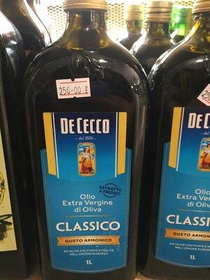 Оливковое масло De Cecсo Classico Extra Vergine это знаменитое оливковое масло первого холодного о