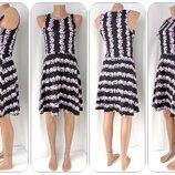 Брендовое платье H&M с фиалками. Размер s.