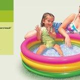 Детский надувной бассейн 86 25см Рассвет надувное дно 58924 Интекс Intex