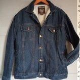 Утепленная джинсовая куртка. теплая джинсовка. барашек . деми курточка. куртка . джинс