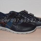 Туфли школьные на мальчика синие Apawwa арт. WC19-20 р.32-37 туфлі сині шкільні клиби