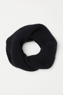 H&M Вязаный перекрученный шарф - труба снуд хомут из мягкой трикотажной ткани пряжи