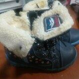 Осенние ботинки для девочки, зимние сапоги для девочки Badoxx Польша 22 размер