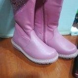 Зимние сапоги для девочки розовые, зимние ботинки для девочки