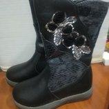 Теплые зимние кожаные сапоги для девочки Том.м 27,28, зимние сапожки для девочки