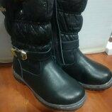 Зимние сапоги для девочки, зимние ботинки для девочки, зимние дутики