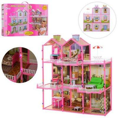 Игровой кукольный домик для барби высота 109 см свет а 6992