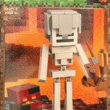 Конструктор Bela 11168 Minecraft Майнкрафт Cкелет с кубом магмы Аналог Lego Minecraft 21150 ,142 д