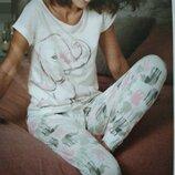 Женская пижама слоники. Один размер. Успей купить