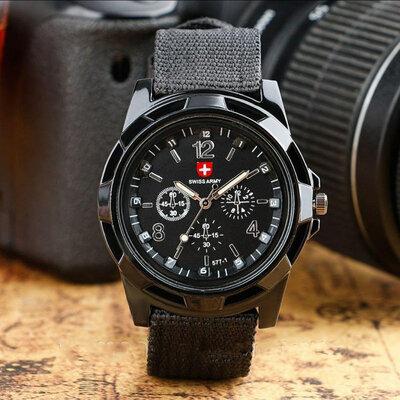 Продано:  Мужские часы Swiss army Gemius army черные в стиле милитари