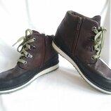 Ботинки детские кожаные демисезонные коричневые Clarks Gore-Tex Размер 31