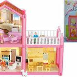 Сказочный двухэтажный домик с мебелью