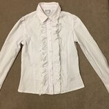 Блузка нарядная белоснежная фирмы Modalora для девочки рост 146см