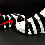 мужские кроссовки Nike Air More Uptempo 41-46р черные с белым