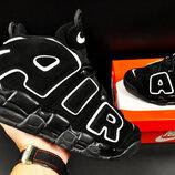 мужские кроссовки Nike Air More Uptempo 41-46р черные