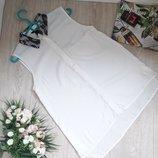 Белая рубашка с кружевом на воротнике размер с H&M