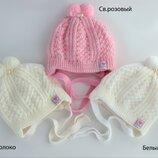 Детская зимняя шапка Крошка для новорожденных для девочки