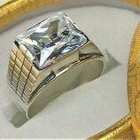 Кольцо перстень серебро 925 проба 8,72 грамма 19,5 размер