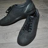 Туфли кроссовки мужские оригинал ECCO 42 кожаные осенние