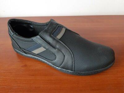 Мужские туфли мокасины черные
