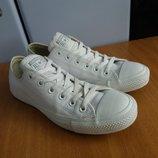 Converse All Star оригинал белая кожа 25,5 см