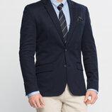 Мужской пиджак классический LC Waikiki / Лс Вайкики синий c 2 клапанами, с карманом, на подкладке