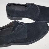 Фирменные туфли замша Италия новые сток