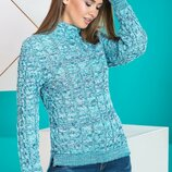 Тёплый свитер 4 цвета 42-44-46-48 размеры