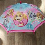 Детский зонт для девочки Щенячий патруль Скай Эверест Гонщик Эльза София Дисней