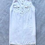 Платье рубашка майка на пуговицах коттон хлопок хб белое свободное оверсайз купить цена