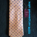 T.M.Lewin .100% натуральный шелк . Актуальный галстук краватка . Новый с биркой