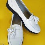 Шикарные туфли-лоферы из натуральной кожи