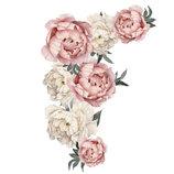3D интерьерные виниловые наклейки на стены Пионы - цветы 60-40 см 1 в детскую .Обои