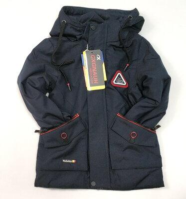 Демисезонная детская куртка для мальчика размеры 5 до 6 лет синяя 4142