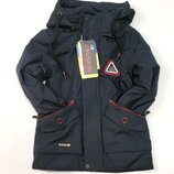 Демисезонная детская куртка для мальчика размеры от 4 до 9 лет синяя 4142