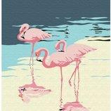 Картина по номерам Брашми. Brushme Фламинго на берегу GX30315