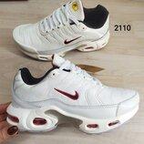 Женские кроссовки в стиле Nike Air Max Tn Plus, белые, Люкс реплика