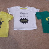 Фирменные футболки 3-6мес